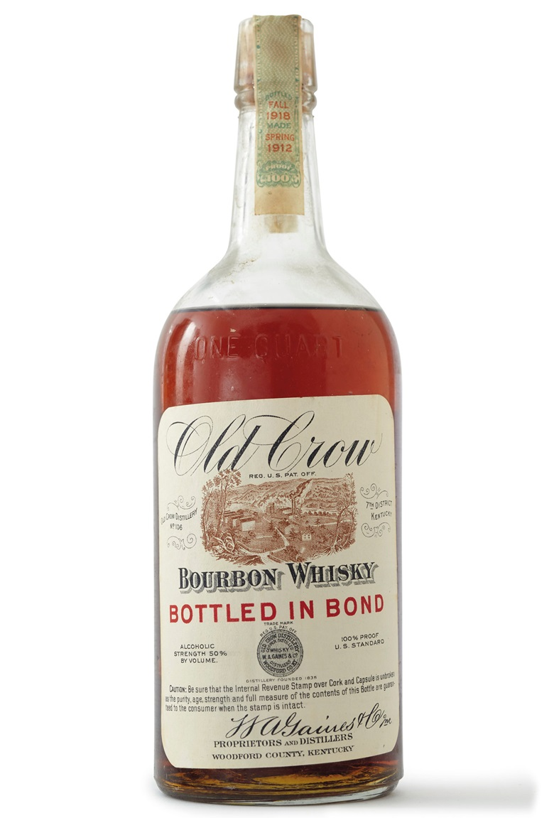 Old Crow Bourbon 1912. 12 Quarts. Estimate $8,500-10,000. Offered in Finest Wines & Spirits on 7 December at Christie's in New York