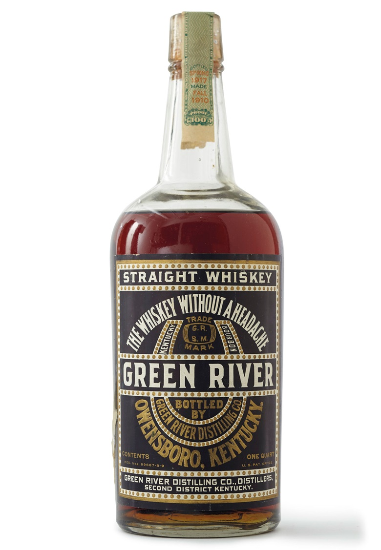 Green River Straight Whiskey 1910. 5 Quarts. Estimate $2,500-3,500. Offered in Finest Wines & Spirits on 7 December at Christie's in New York