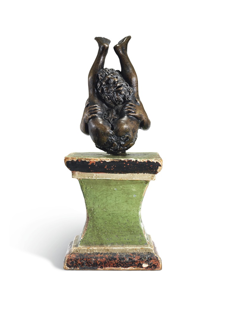 Incense Burner in the form of an Acrobat, Paduan, 16th Century, 24.3 cm. high, overall. Estimate £8,000-12,000. Offered in European Sculpture on 4 December 2018 at Chrisites in London