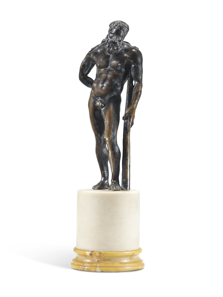 Hercules Pomarius, Circle of Vittore Gambello, called Camelio (circa 145560-1537), Venetian, mid-16th century, 28.7 cm. high, overall. Estimate £15,000-25,000. Offered in European Sculpture on 4 December at Christies in London
