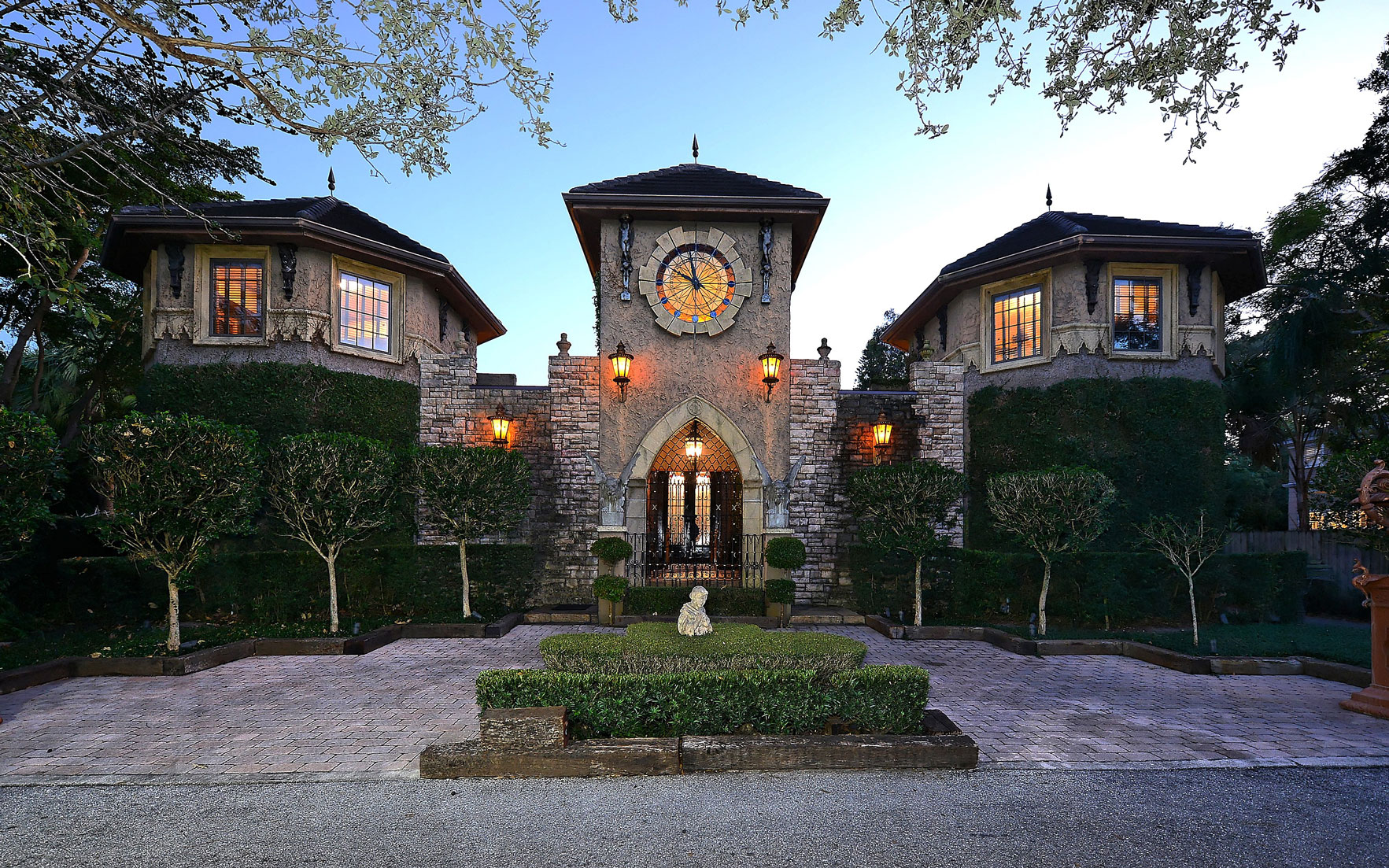 Luxury Living Homes with clock towers and sundials