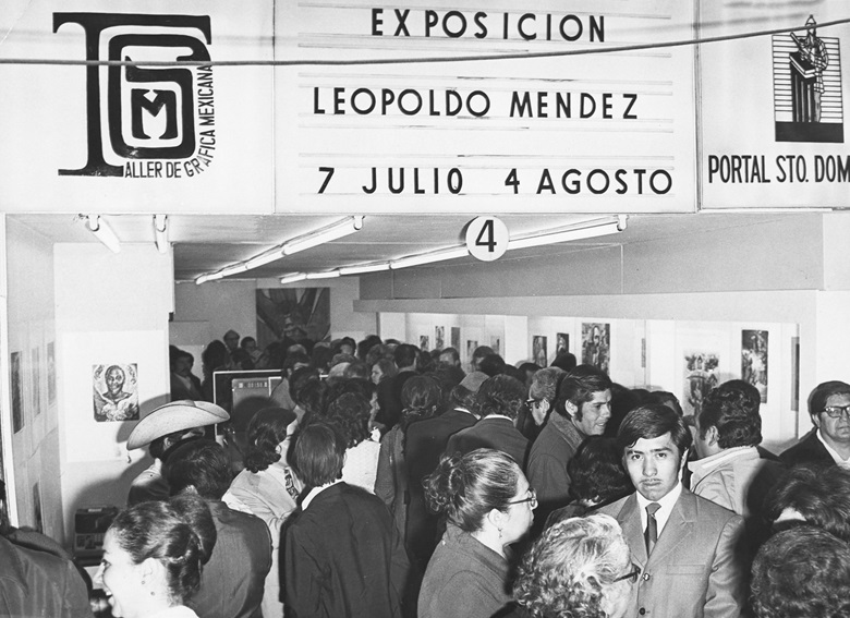 The inaugural exhibition of Taller de Gráfica Mexicana, 1969. Photo courtesy of the Remba family