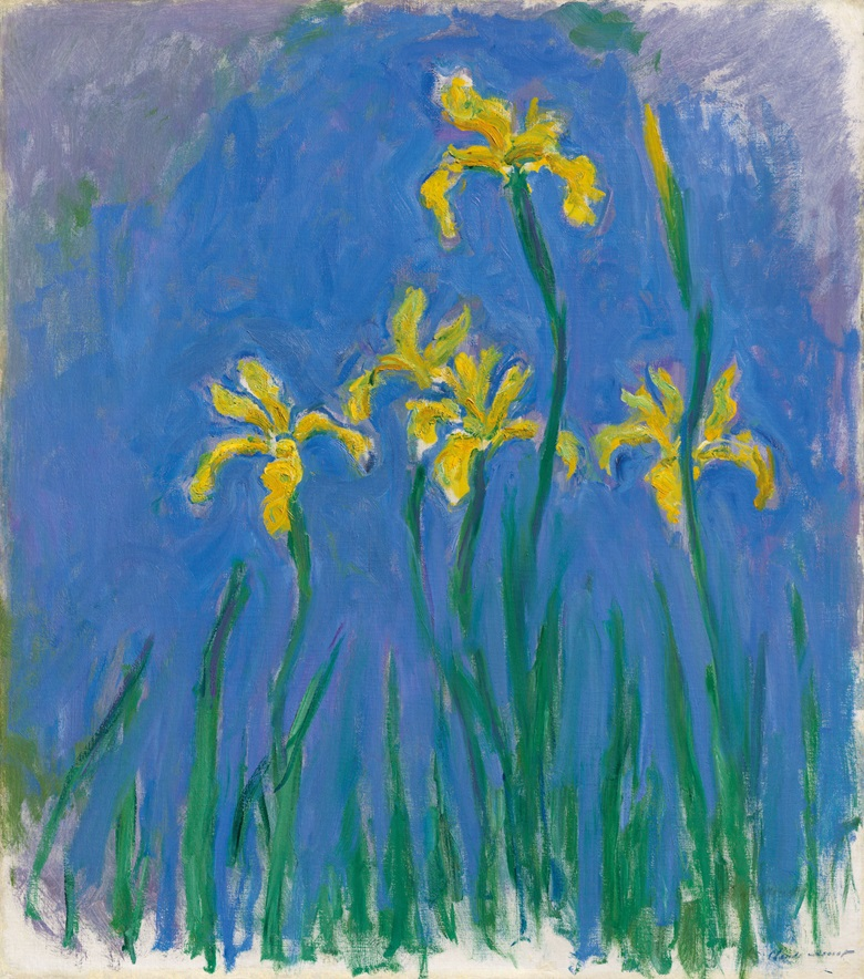 Claude Monet (1840-1926), Iris, 1918-1925. Oil on canvas. 39⅛ x 34½ in (99.4 x 87.5 cm). Offered in Hidden Treasures on 27 February 2019 at Christie's in London