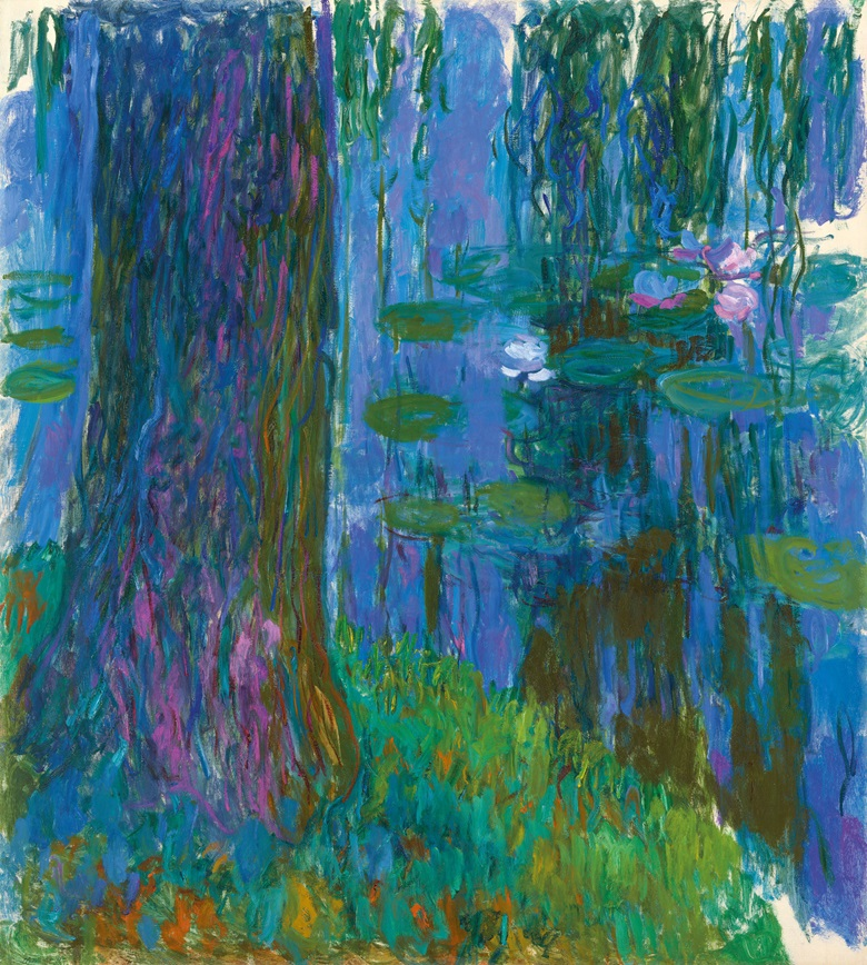 Claude Monet (1840-1926), Saule pleureur et bassin aux nymphéas, 1916-1919. Oil on canvas. 78¼ x 70¾ in (200 x 180 cm). Offered in Hidden Treasures on 27 February 2019 at Christie's in London