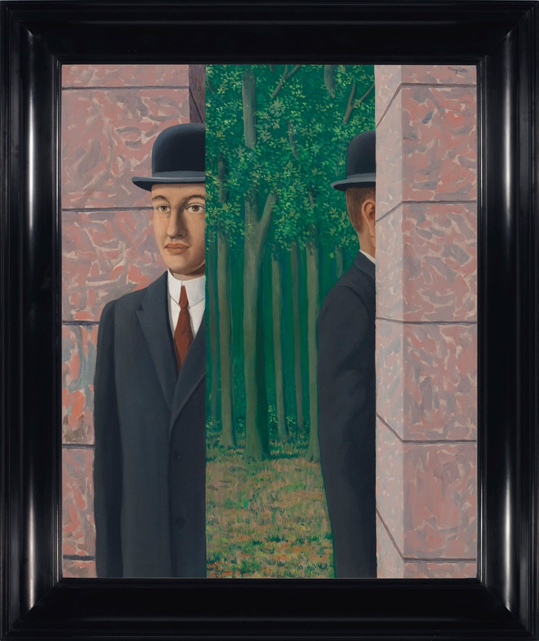 René Magritte (1898-1967), Le lieu commun, 1964. Oil on canvas. 39⅜ x 31⅞ in (100 x 81 cm). Estimate on request. Offered in The Art of the Surreal Evening Sale on 27 February at Christies London