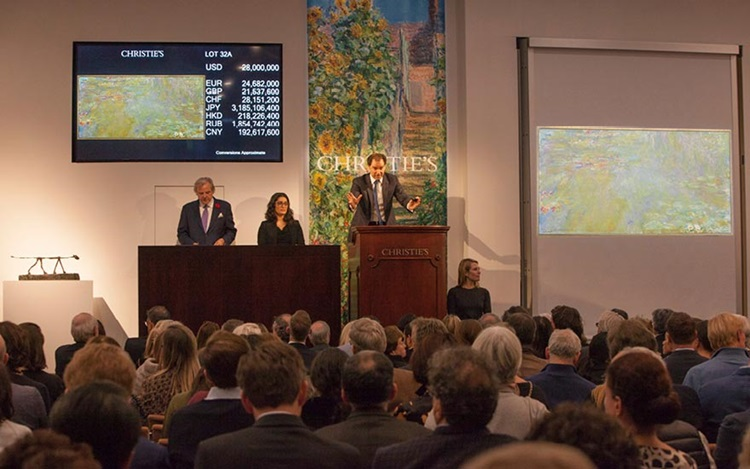 Monet shimmers on opening nigh auction at Christies