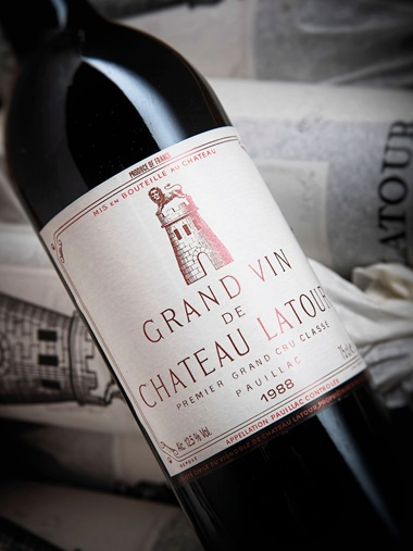 Château Latour 1988, 12 bottles per lot. Estimate £3,000-4,000. Sold for £4,560 on 28-29 November 2018 at Christie's in London