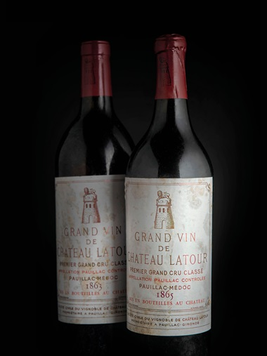 Château Latour 1863, 1 bottle per lot. Sold for £15,600 on 28-29 November 2018 at Christie's in London
