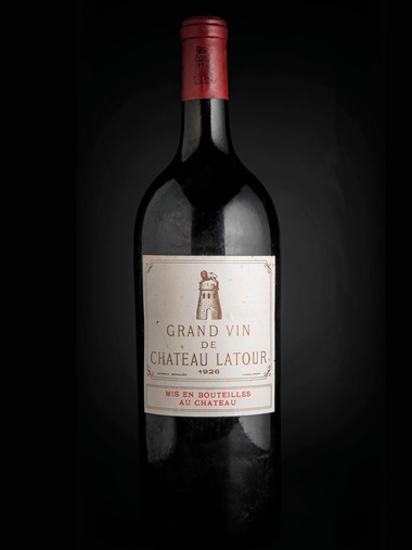 Château Latour 1926, 1 magnum per lot. Sold for £9,000 on 28-29 November 2018 at Christie's in London