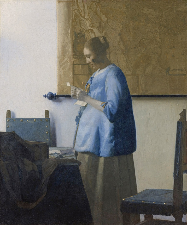 Johannes Vermeer, Woman Reading a Letter, circa 1662-63. Photo Rijksmuseum, Amsterdam, The Netherlands  Bridgeman Images