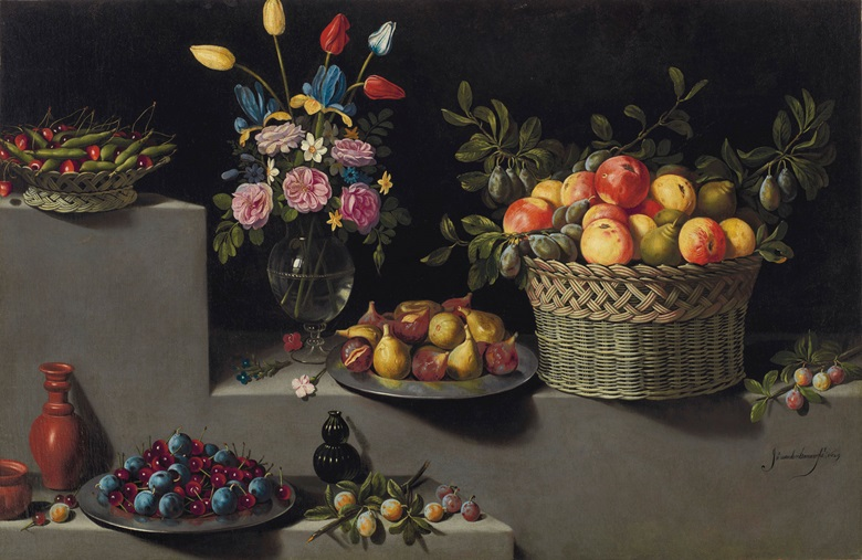 Juan van der Hamen y León (1598-1631) Still Life with Flowers and Fruit. Oil on canvas, 33¼ x 51½ in. (84.5 x 130.8 cm.) Estimate $6,000,000-$9,000,000. Offered in Masterworks from the Estate of Lila and Herman Shickman on 1 May 2019 at Christie's in New York