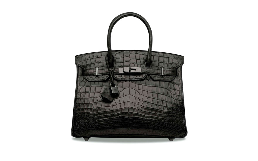 A Rare Matte Black Niloticus Crocodile So Birkin 30 With Hardware Hermès