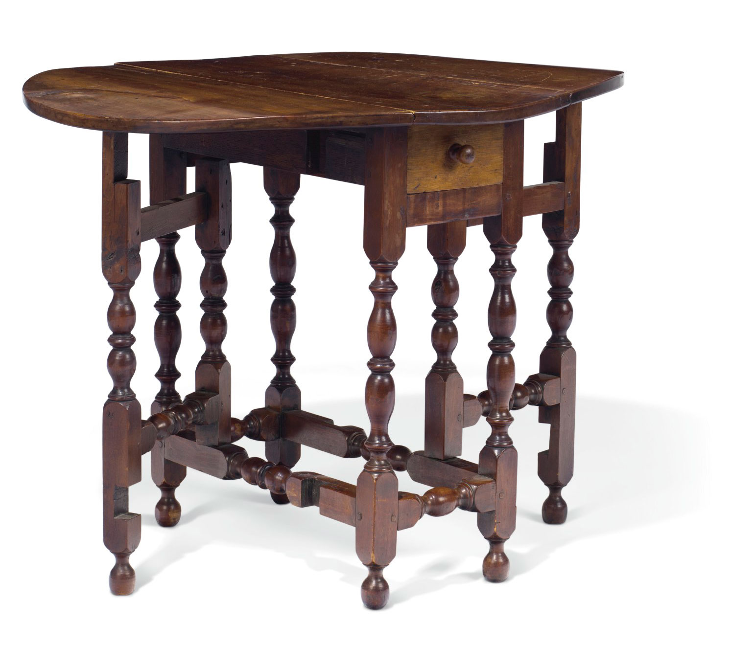 collecting guide key periods of american furniture north harbora william and mary maple diminutive gate leg table, massachusetts or rhode island,