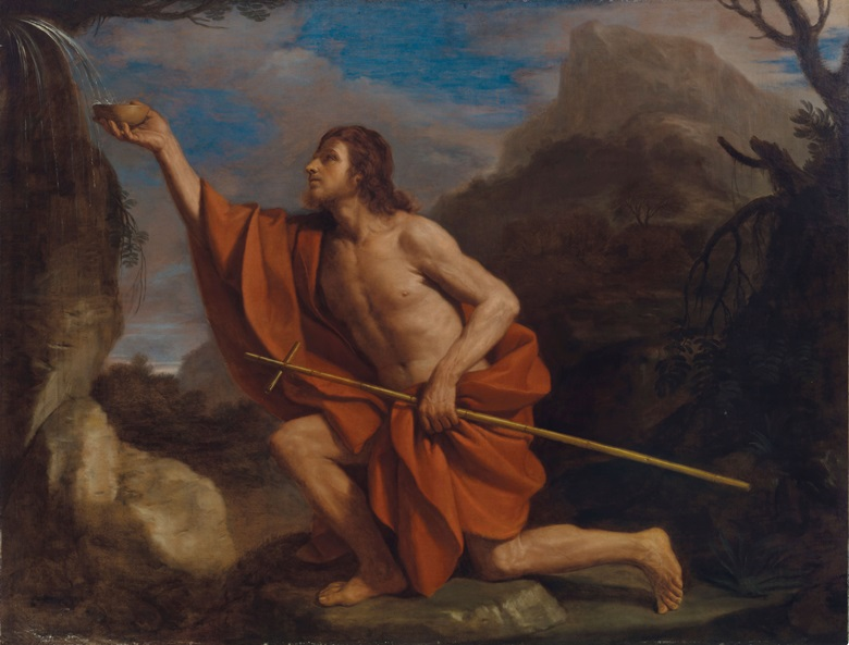 Giovanni Francesco Barbieri called Guercino (1591-1666), Saint John in the Wilderness. Oil on canvas. 69⅞ x 91¼ in. Estimate $500,000-$700,000. Offered in Old Masters on 2 May at Christie's in New York