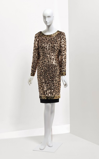 A cocktail dress embroidered in sequins with a leopard motif, AutumnWinter 1997-1998. Sold for €9,375 on 24 January at Christie's in Paris