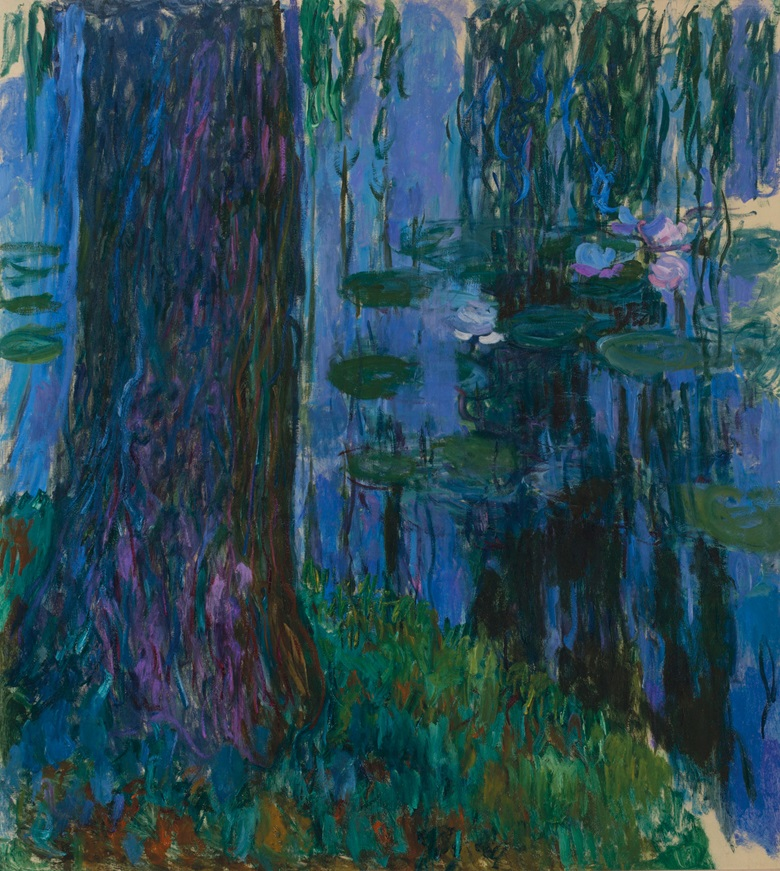 Claude Monet, Saule pleureur et bassin aux nymphéas, 1916-1919. Oil on canvas. 78¼ x 70¾ in. Estimate on request. Offered in Hidden Treasures on 27 February at Christies in London