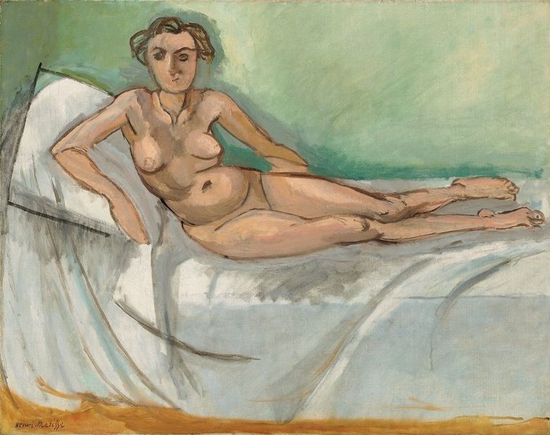 Henri Matisse, Nu demi couché, circa 1918. Oil on canvas. 29 x 36½ (73.6 x 92.7 cm). Estimate £1,500,0000-3,000,000. Offered in Hidden Treasures on 27 February at Christie's London