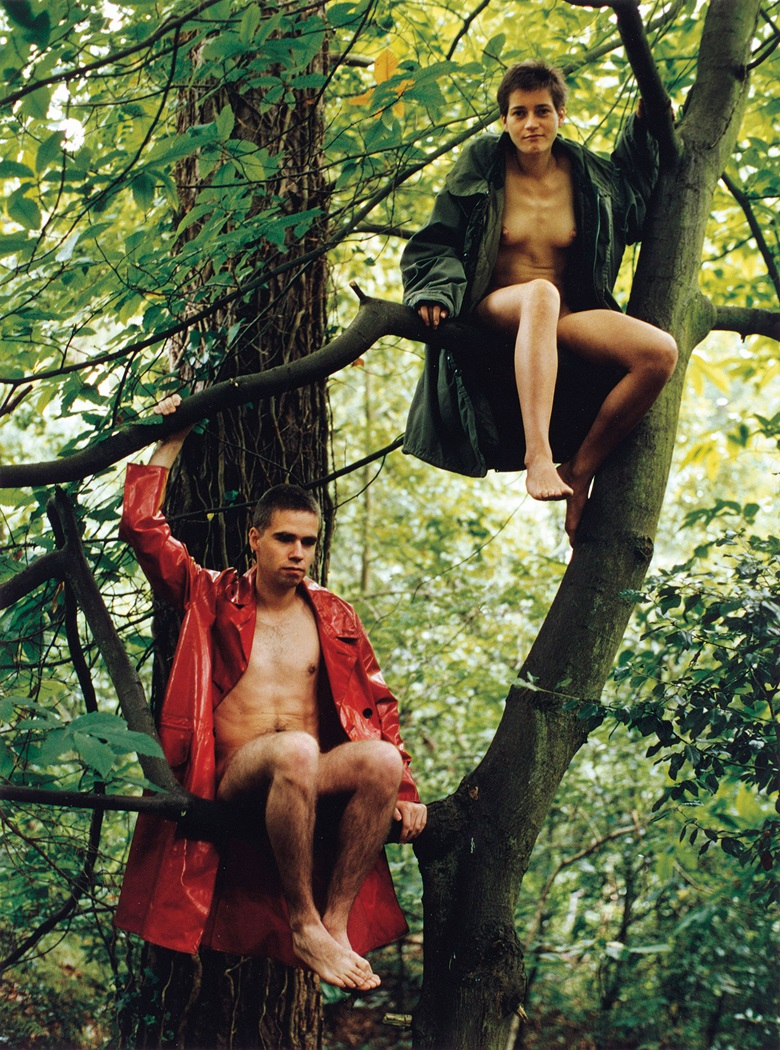 Wolfgang Tillmans (b. 1969), Lutz & Alex sitting in the trees, photographed in August 1992 and printed in 1999. Signed and dated photo Aug 92 (on the reverse). C-print.  20 x 14¾ in (50.8 x 37.5 cm). This work is number two from an edition of three. Estimate £30,000-£40,000. Offered in Masterpieces of Design and Photography on 6 March at Christie's London