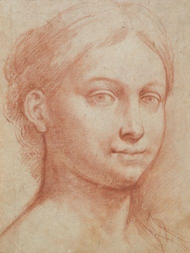 Raffaellino del Colle (149095-1566), Head of a young woman. Red chalk. 29.7 x 22.5 cm. Estimate €250,000-350,000. Offered in Dessins Anciens et du XIXe Siècle on 27 March at Christie's in Paris