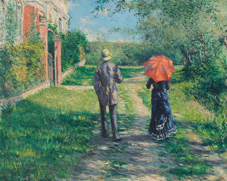 Gustave Caillebotte (1848-1894), Chemin montant, 1881. Oil on canvas. 39½ x 49⅜ in (100.2 x 125.3 cm). Estimate on request. Offered in Impressionist and Modern Art Evening Sale on 27 February 2019 at Christie's London