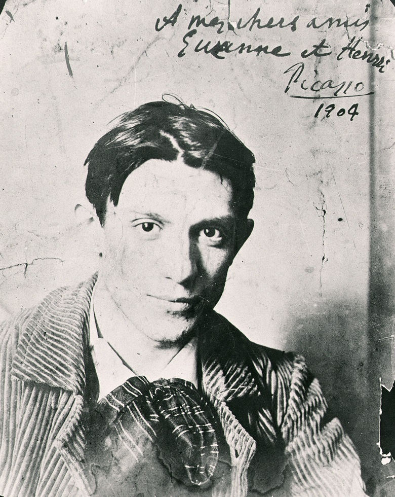 Pablo Picasso aged 22 in 1904, the year in which he settled permanently in Paris. Musée de Montmartre, Paris France. Archives Charmet, Bridgeman Images © Succession Picasso, DACS, London 2019
