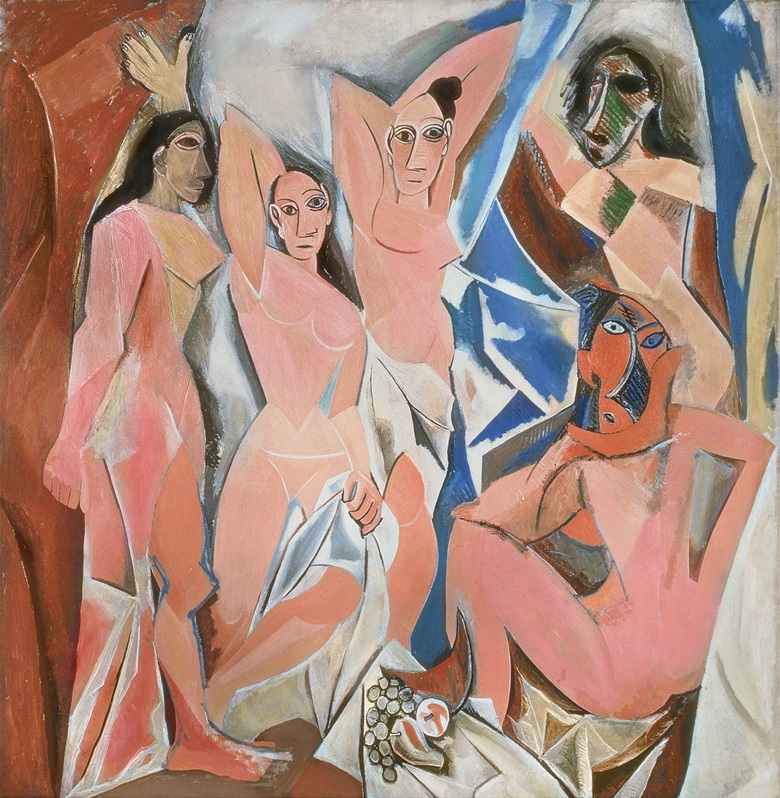 Pablo Picasso (1881-1973), Les Demoiselles d'Avignon, 1907. Oil on canvas. Acquired through the Lillie P. Bliss Bequest (by exchange) © Succession Picasso_DACS, London 2019