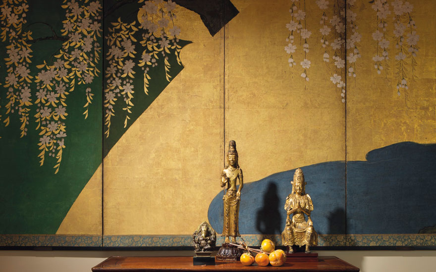 A selection of Buddhist sculptures which were offered in Lacquer, Jade, Bronze, Ink The Irving Collection Evening Sale on 20 March 2019 at Christie's in New York