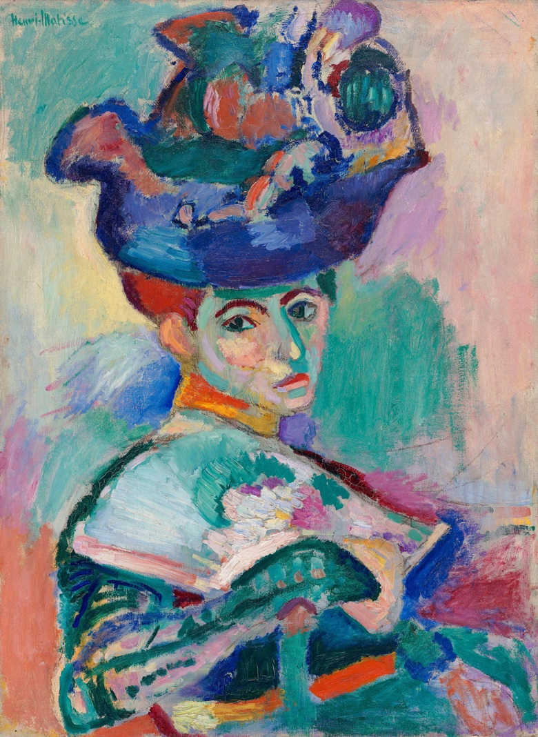 Henri Matisse, Woman with a Hat, 1905. San Francisco Museum of Modern Art. Photo © 2019. AlbumScala, Florence. Artwork © Succession H. Matisse  DACS 2019