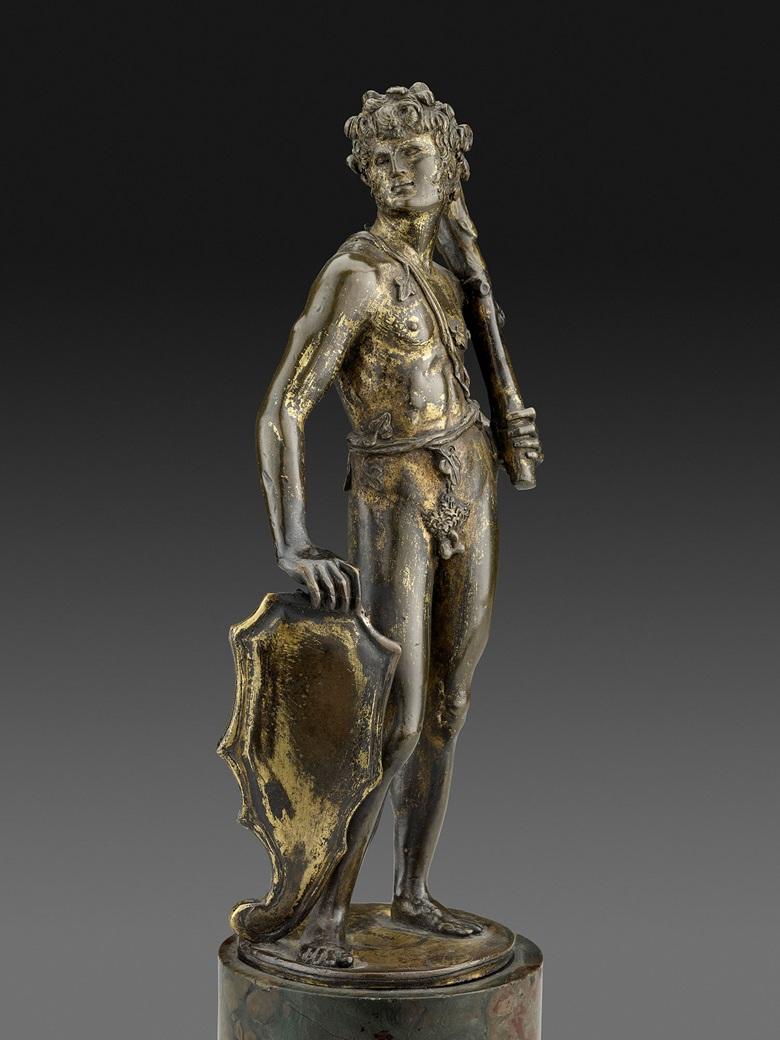 贝尔托多·迪·乔凡尼(约1440-1491),《持盾者》,1470年代早期作。镀金铜。弗里克收藏艺术博物馆。图片:Michael Bodycomb