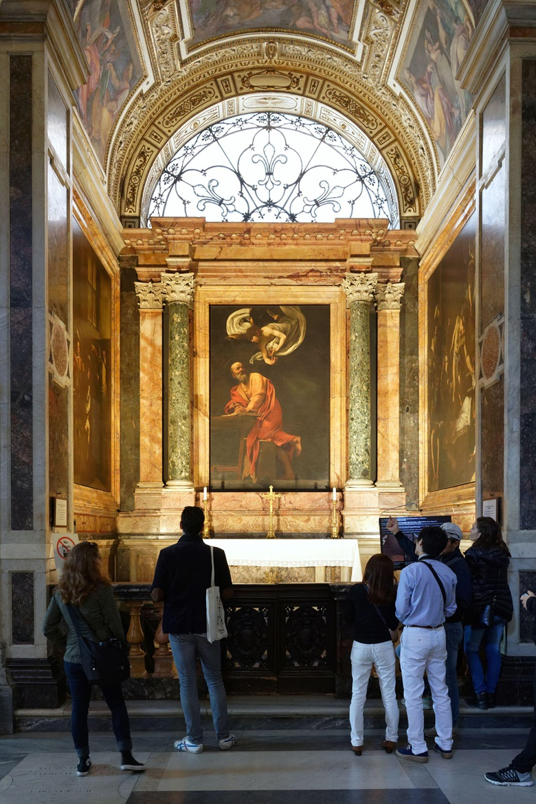 Caravaggios St. Matthew altarpieces in the church of San Luigi dei Francesi in Rome. Photo Hemis  Alamy