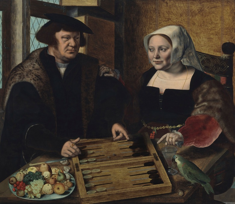 Jan Sanders van Hemessen (c. 1504-1556), Double Portrait of a Husband and Wife, Half-Length, Seated at a Table, 1532. Oil on panel. 43¾ x 50¼ in (111.1 x 127.6 cm). Estimate $4-6 million. Offered in Old Masters on 1 May 2019 at Christie's in New York