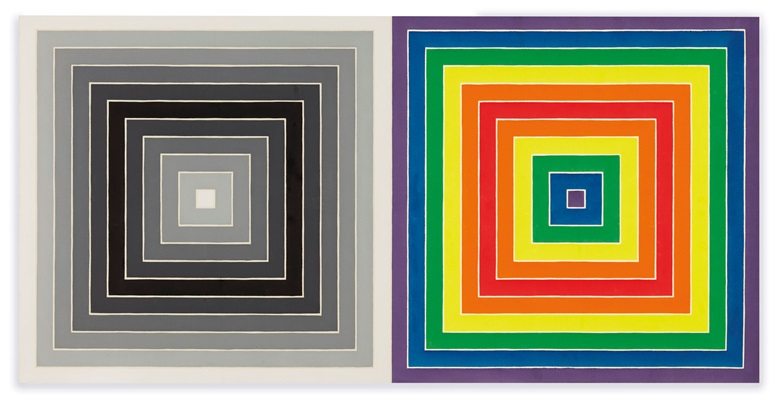 Frank Stella (b. 1936), WWRL, 1967. Acrylic on canvas. 62⅝ x 125¼ in (159.1 x 318.2 cm). Estimate $4,000,000-6,000,000. Offered in the Post-War and Contemporary Art Evening Sale on 15 May 2019 at Christie's in New York