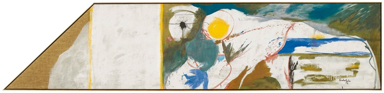 Helen Frankenthaler (1928-2011), Beach Horse, 1959. Oil on linen. 35 x 154 in (88.9 x 391.2 cm). Estimate $2,000,000-3,000,000. Offered in the Post-War and Contemporary Art Evening Sale on 15 May 2019 at Christie's in New York
