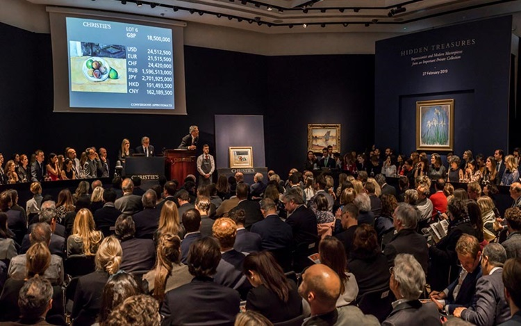 Cézanne leads Impressionist an auction at Christies