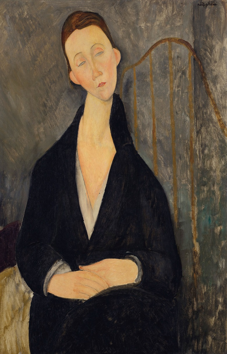 Amedeo Modigliani (1884-1920), Lunia Czechowska (à la robe noire), 1919. 36⅜ x 23⅝  in (92.4 x 60  cm). Sold for $25,245,000 on 13 May 2019 at Christie's in New York