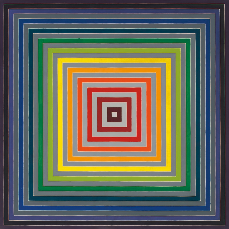 Frank Stella (b. 1936), Lettre sur les aveugles I, 1974. Acrylic on canvas. 141 x 141 in (358.1 x 358.1 cm). Estimate $5,500,000-7,500,000. Offered in Post-War and Contemporary Art Evening Sale on 15 May 2019 at Christie's in New York