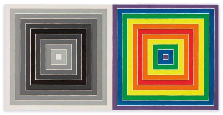 Frank Stella (b. 1936), WWRL, 1967. Acrylic on canvas. 62⅝ x 125¼ in (159.1 x 318.2 cm). Estimate $4,000,000-6,000,000. Offered in Post-War and Contemporary Art Evening Sale on 15 May 2019 at Christie's in New York