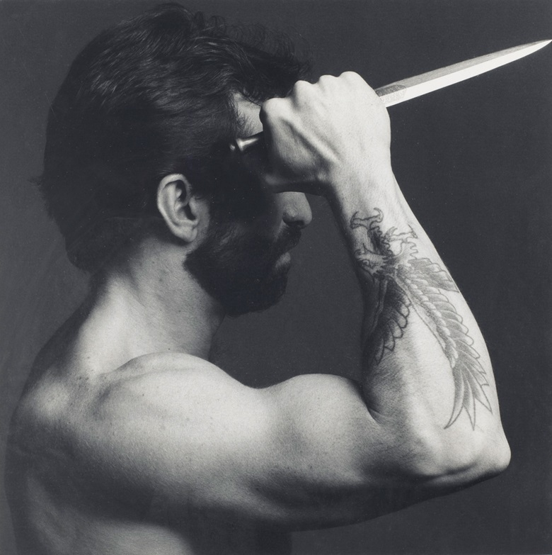 Robert Mapplethorpe (1946-1989), Frank Diaz, 1979. Sheetflush mount 19¾ x 15⅞  in (50.1 x 40.3  cm). Estimate $8,000-12,000. Offered in Photographs on 2 April 2019 at Christie's in New York