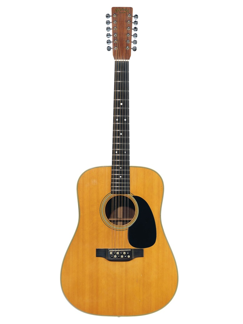 C.F. Martin & Company, Nazareth, 1971. An acoustic guitar, D12-28. Estimate $5,000-10,000. Offered in The David Gilmour Guitar Collection on 20 June at Christie's in New York