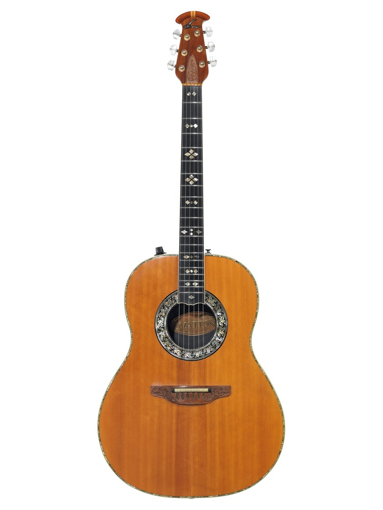 Ovation Instruments, New Hartford, 1976. An acoustic-electric guitar, custom legend, 1619-4. Estimate $3,000-5,000. Offered in The David Gilmour Guitar Collection on 20 June at Christie's in New York