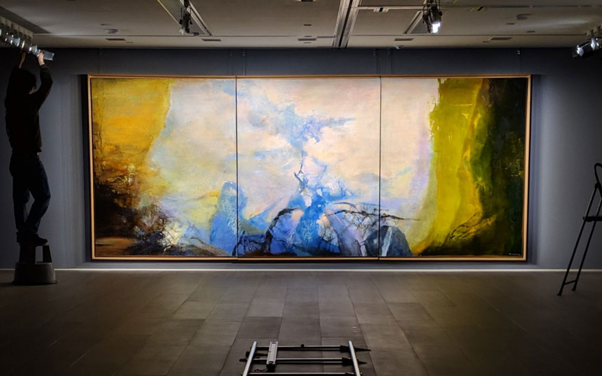 Zao Wou-Ki's monumental homage