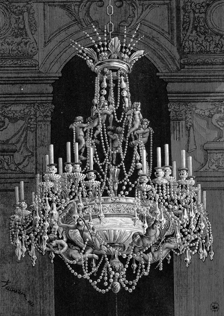 Drawing of a chandelier by Baccarat (circa 1880) related to the one shown above © Baccarat, archives de la manufacture