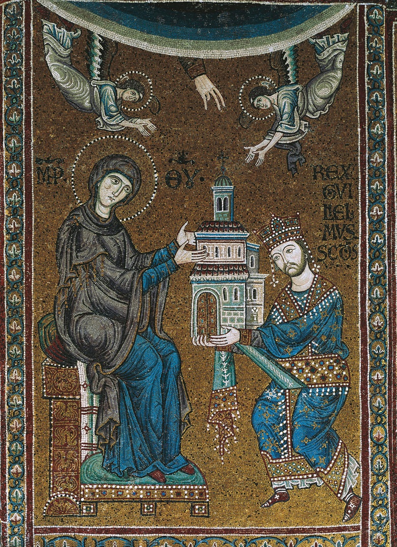A mosaic of William II presenting the church to the Virgin Mary. Photo DeAgostini Picture LibraryScala, Florence