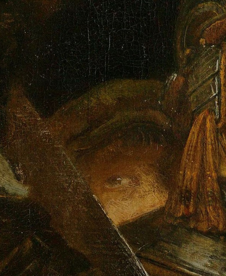 Detail from The Night Watch The artist's self-portrait. Photo Courtesy Rijksmuseum, Amsterdam