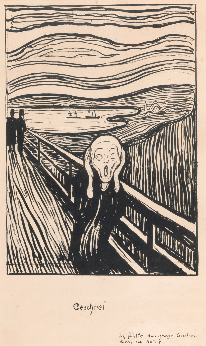 Edvard Munch (1863-1944), The Scream, 1895. Private Collection, Norway. Photo Thomas Widerberg