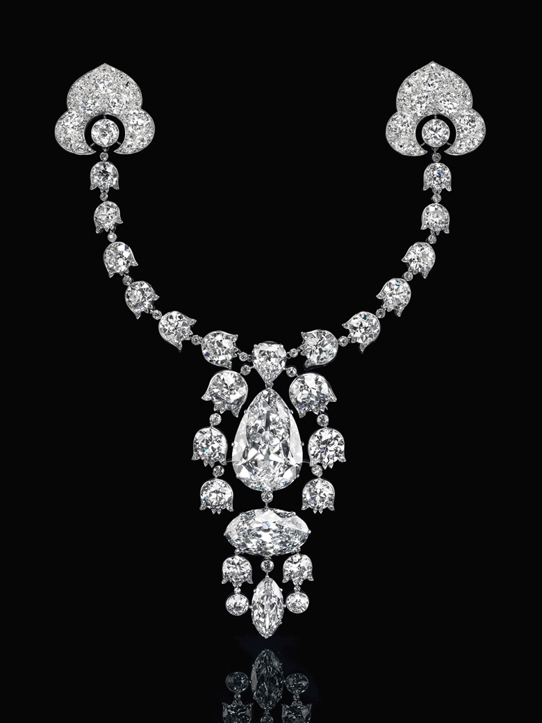A Belle Époque diamond devant-de-corsage brooch, Cartier, 3.54 carats. Estimate $10,000,000-15,000,000. Offered in Maharajas & Mughal Magnificence on 19 June 2019 at Christie's in New York
