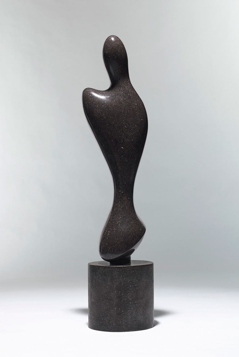Jean (Hans) Arp (1886-1966), Entité ailée, conceived in 1961 and carved by 1963; unique. Height including base 50¾ (129  cm). Sold for $3,855,000 on 13 May 2019 at Christie's in New York. © 2019 Artists Rights Society (ARS), New York  VG Bild-Kunst, Bonn