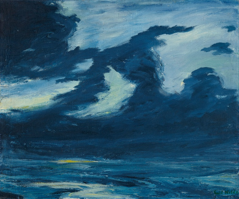 Emil Nolde (1857-1956), Herbstmeer XVII, 1911. Oil on canvas. 29 x 34⅝ in (73.6 x 89.9 cm). © Nolde Stiftung Seebüll