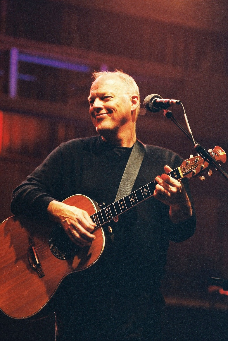 David Gilmour performing at The Royal Festival Hall in London, June 2001, as part of the Robert Wyatt-curated Meltdown Festival. Photo by Carl Swaby