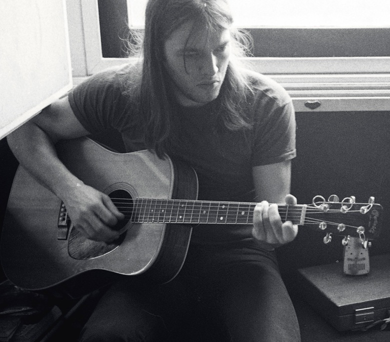 David Gilmour at Michel Magne's Chateau d'Hérouville studios near Paris, working on Pink Floyd's seventh studio album, Obscured by Clouds, in 1972. Image by JD MahnPink Floyd Music Ltd